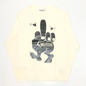 FUCK U – L/S T-SHIRTS / WHITE × BLACKの商品画像