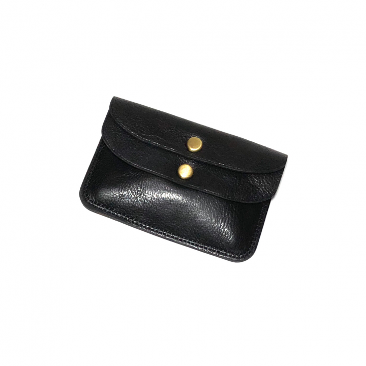 DOUBLE FLAP COIN CASE / BLACKの商品画像1