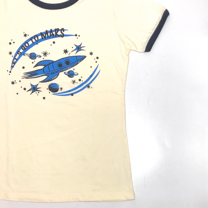 LET'S GO TO MARS – RINGER T – SHIRTSの商品画像3