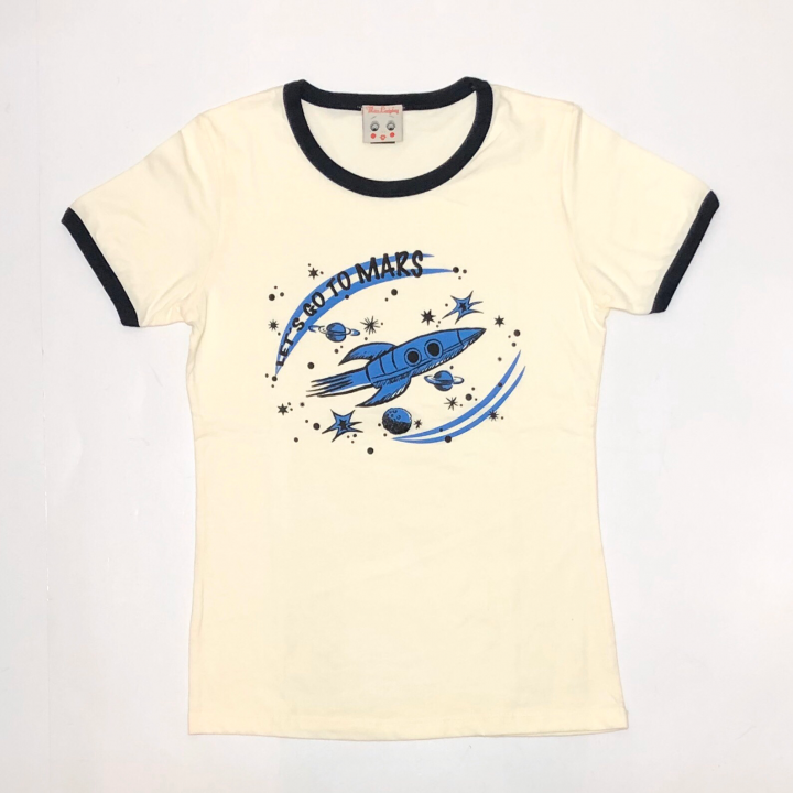 LET'S GO TO MARS – RINGER T – SHIRTSの商品画像1