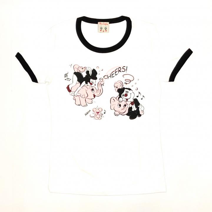 PINK ELEPHANT – RINGER T – SHIRTSの商品画像1