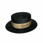 KISSING – BOATER HAT / BLACKの商品画像