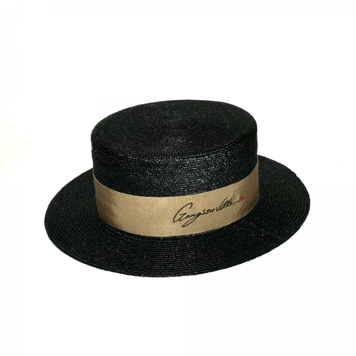 KISSING – BOATER HAT / BLACKの商品画像1