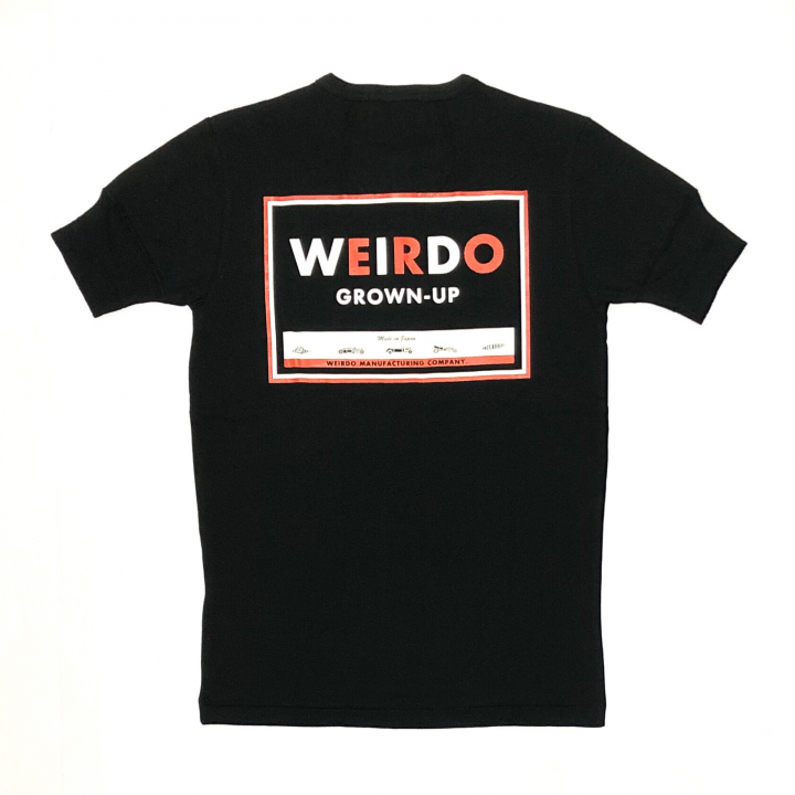 WEIRDO CAN – S/S HENRY NECK T-SHIRTS / BLACKの商品画像1