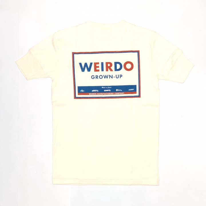 WEIRDO CAN – S/S HENRY NECK T-SHIRTS / WHITEの商品画像1