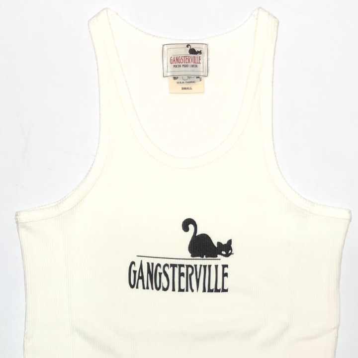 GANGSTERVILLE SIG – TANK TOP / WHITEの商品画像2