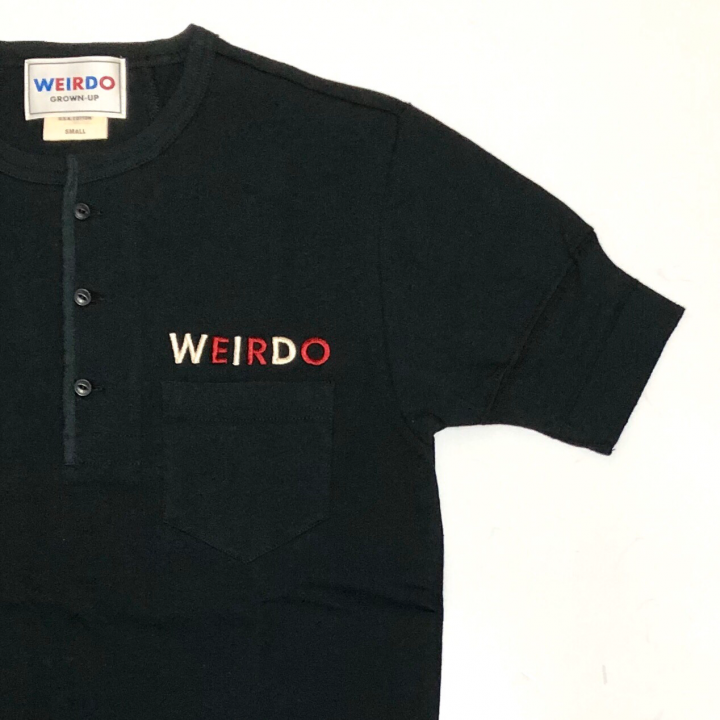 WEIRDO CAN – S/S HENRY NECK T-SHIRTS / BLACKの商品画像4
