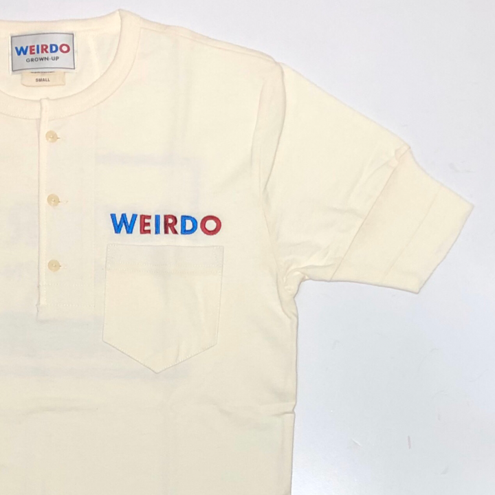 WEIRDO CAN – S/S HENRY NECK T-SHIRTS / WHITEの商品画像4