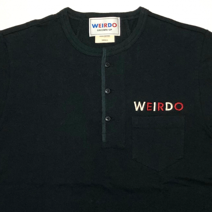 WEIRDO CAN – S/S HENRY NECK T-SHIRTS / BLACKの商品画像3