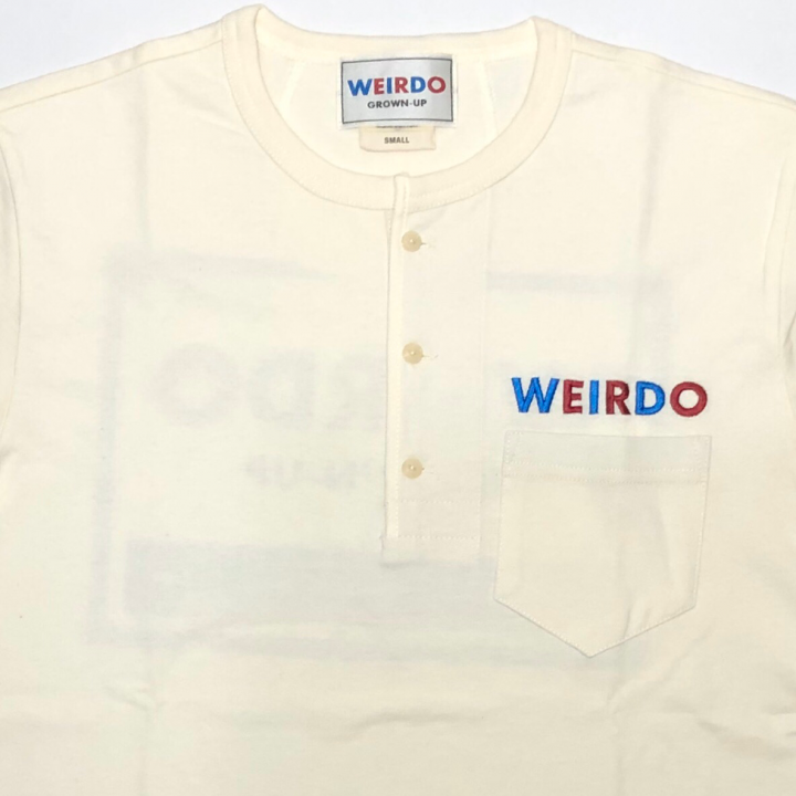 WEIRDO CAN – S/S HENRY NECK T-SHIRTS / WHITEの商品画像3