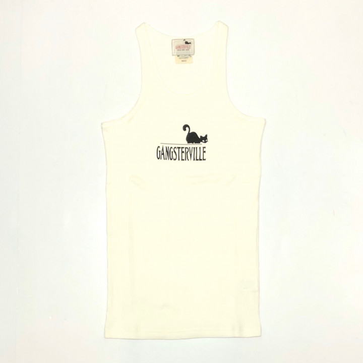 GANGSTERVILLE SIG – TANK TOP / WHITEの商品画像1