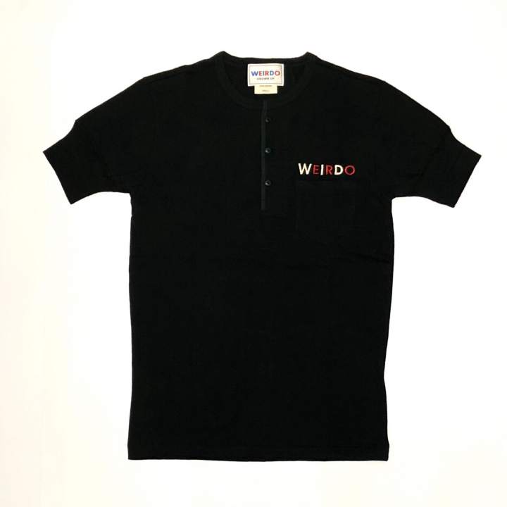 WEIRDO CAN – S/S HENRY NECK T-SHIRTS / BLACKの商品画像2