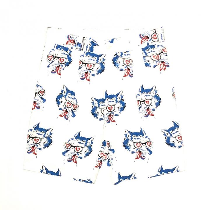 WOLF BAIT – SHORTS / WHITEの商品画像1