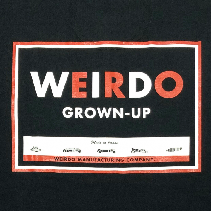 WEIRDO CAN – S/S HENRY NECK T-SHIRTS / BLACKの商品画像5