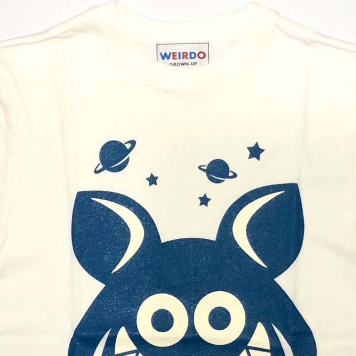 WEIRDO FINK – S/S T-SHIRTS / WHITE × BLUEの商品画像2