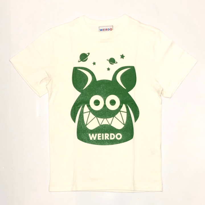 WEIRDO FINK – S/S T-SHIRTS / WHITE × GREENの商品画像1