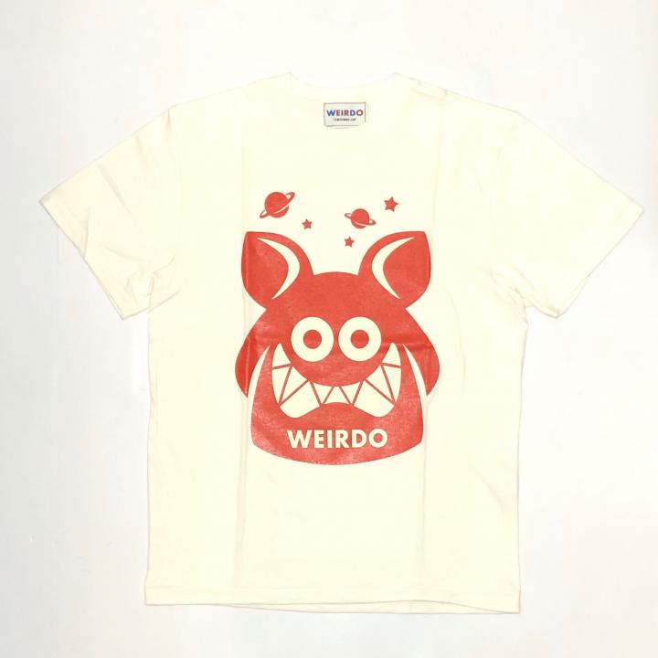 WEIRDO FINK – S/S T-SHIRTS / WHITE × REDの商品画像1