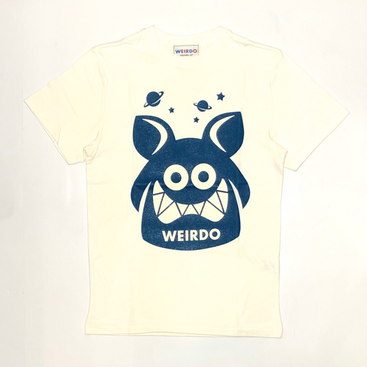WEIRDO FINK – S/S T-SHIRTS / WHITE × BLUEの商品画像1