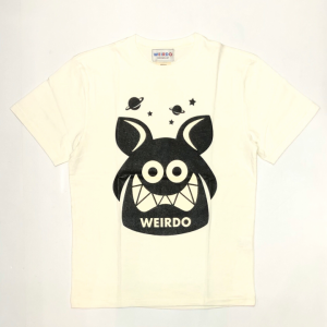 WEIRDO FINK – S/S T-SHIRTS / WHITE × BLACKの商品画像