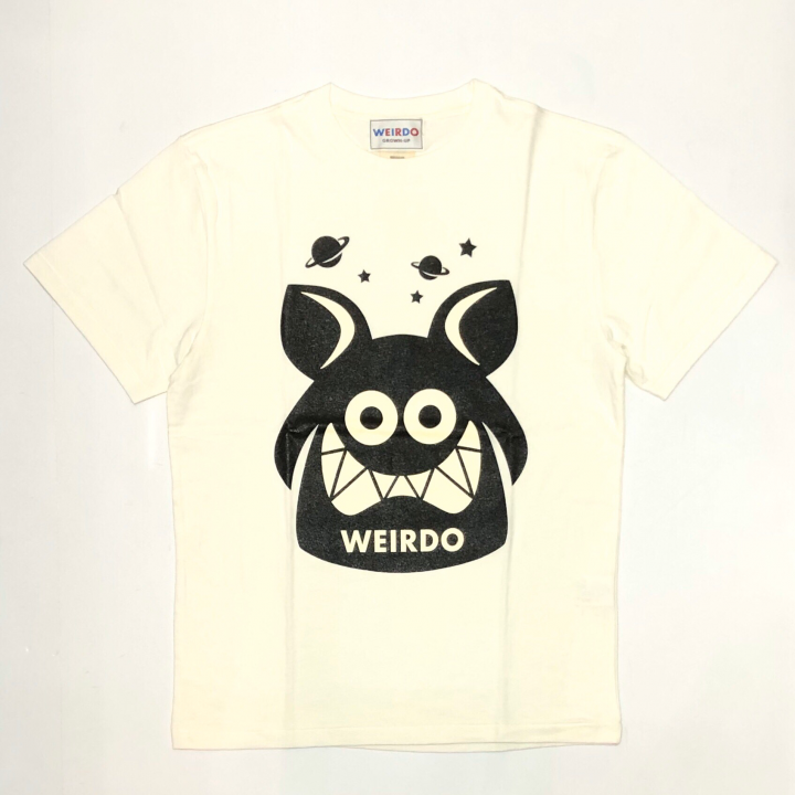 WEIRDO FINK – S/S T-SHIRTS / WHITE × BLACKの商品画像1
