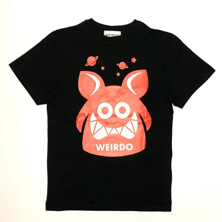 WEIRDO FINK – S/S T-SHIRTS / BLACK × REDの商品画像1