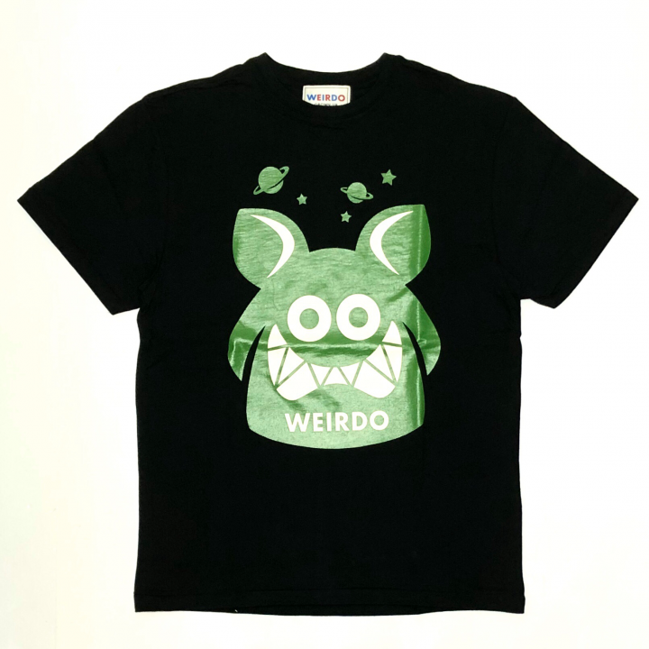 WEIRDO FINK – S/S T-SHIRTS / BLACK × GREENの商品画像1