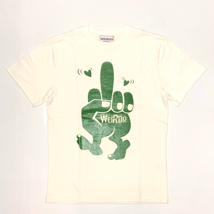FUCK U – S/S T-SHIRTS / WHITE × GREENの商品画像1