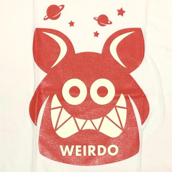 WEIRDO FINK – S/S T-SHIRTS / WHITE × REDの商品画像3