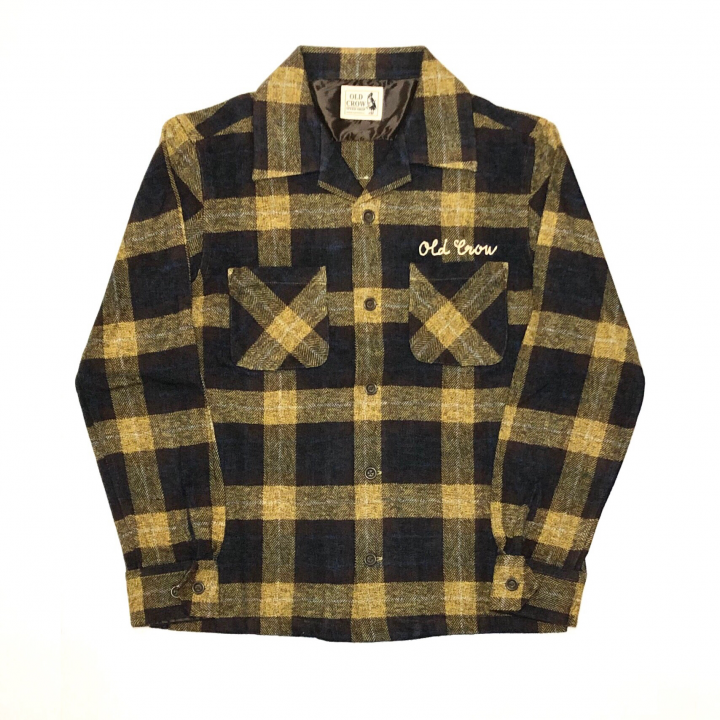SPEEDWAY – L/S CHECK SHIRTS / YELLOWの商品画像1