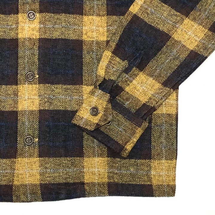 SPEEDWAY – L/S CHECK SHIRTS / YELLOWの商品画像3