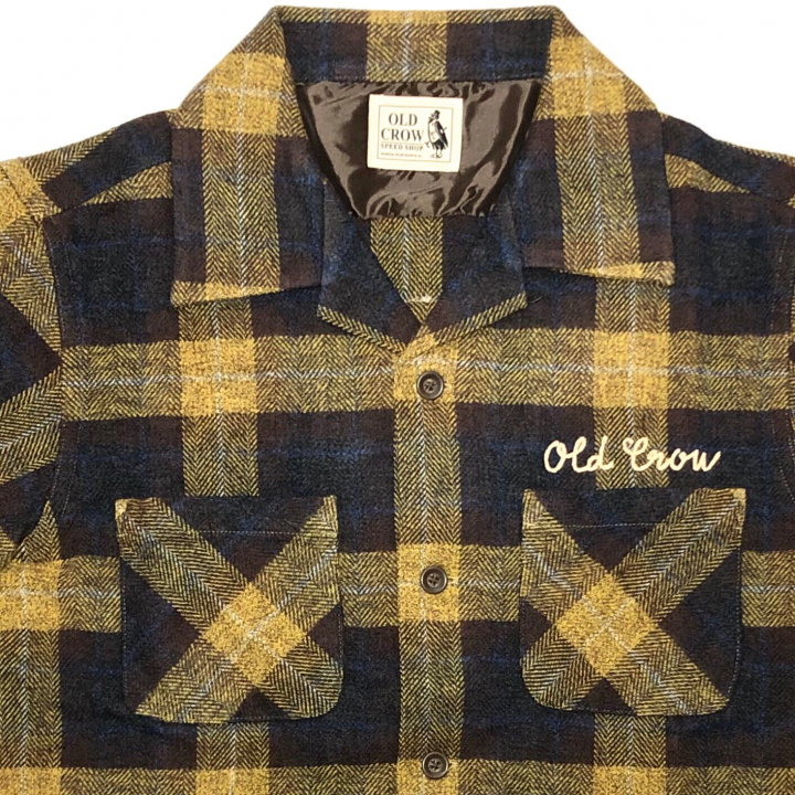 SPEEDWAY – L/S CHECK SHIRTS / YELLOWの商品画像4