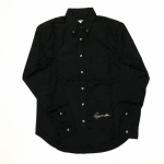 RISE ABOVE – L/S BUTTON DOWN SHIRTS / BLACKの商品画像