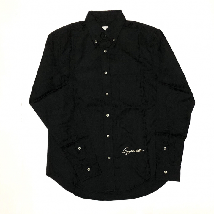 RISE ABOVE – L/S BUTTON DOWN SHIRTS / BLACKの商品画像1