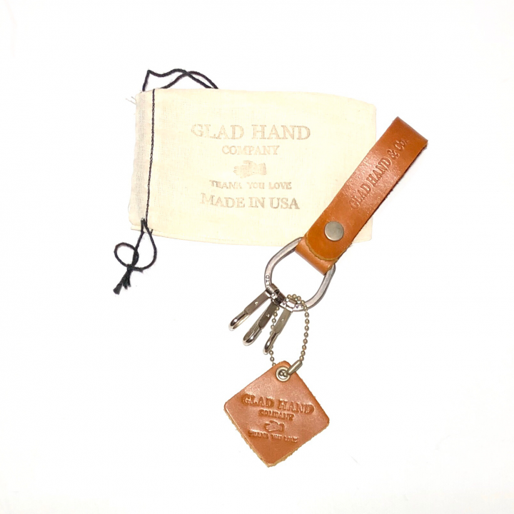 "LEATHER KEY FOB ""NORTH & JUDD"" / GOLDEN BROWNの商品画像4"