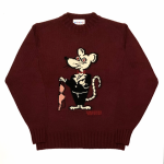 CLASSIC RAT – CREW NECK SWEATER / BURGUNDYの商品画像