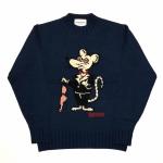 CLASSIC RAT – CREW NECK SWEATER / NAVYの商品画像