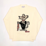 CLASSIC RAT – CREW NECK SWEATER / IVORYの商品画像