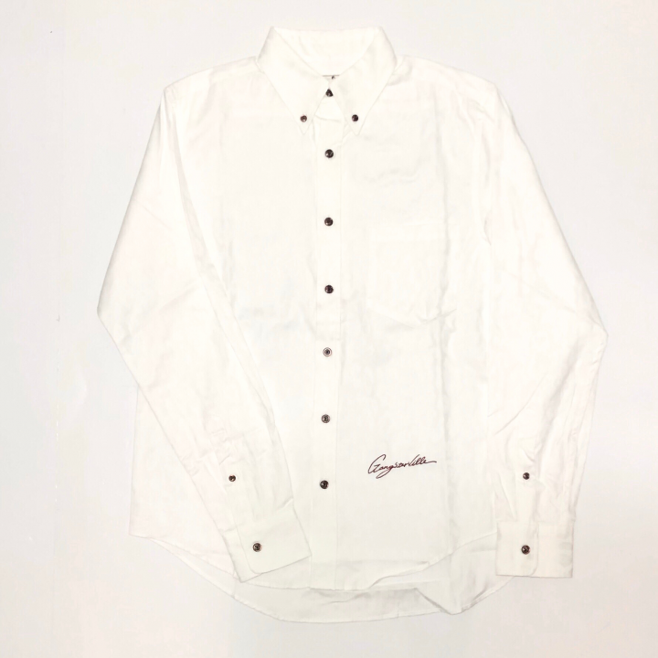 RISE ABOVE – L/S BUTTON DOWN SHIRTS / WHITEの商品画像1