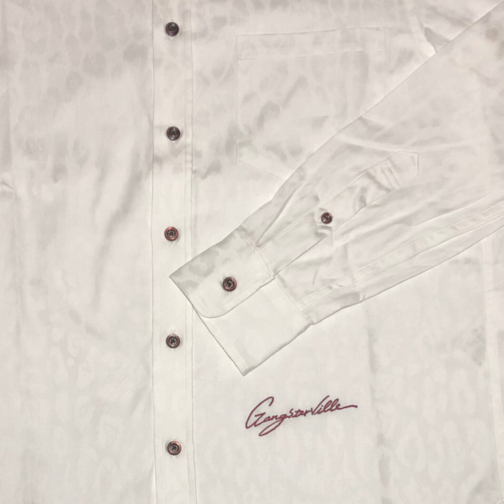 RISE ABOVE – L/S BUTTON DOWN SHIRTS / WHITEの商品画像4