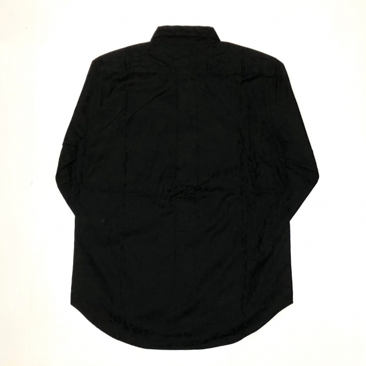 RISE ABOVE – L/S BUTTON DOWN SHIRTS / BLACKの商品画像2