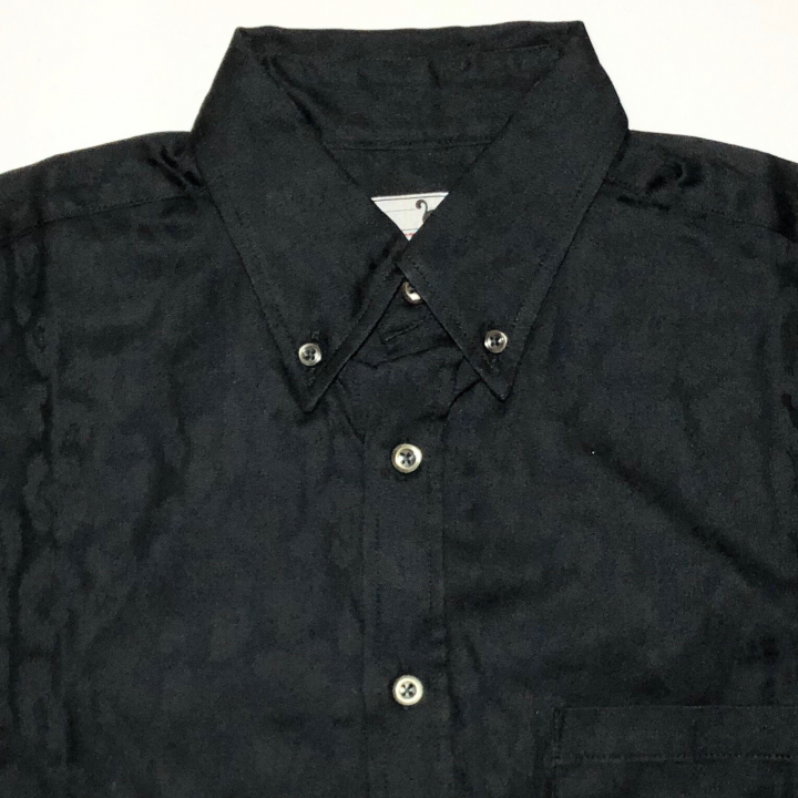 RISE ABOVE – L/S BUTTON DOWN SHIRTS / BLACKの商品画像3