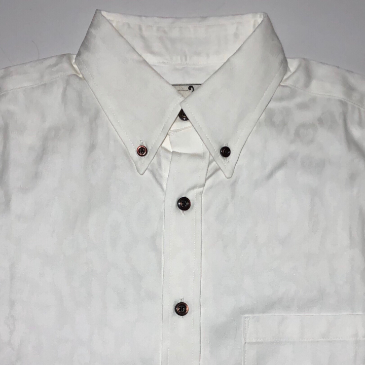 RISE ABOVE – L/S BUTTON DOWN SHIRTS / WHITEの商品画像3