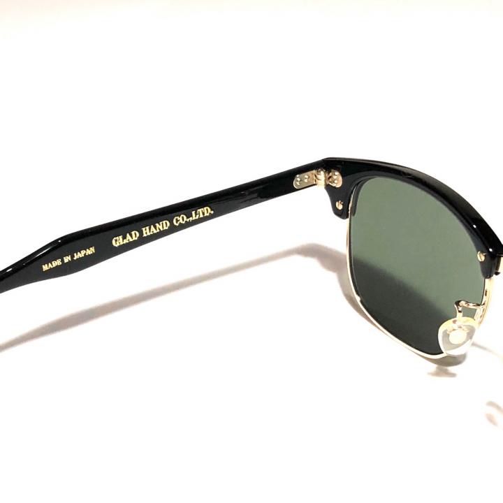 COLLINS – GLASSES / GOLD BLACK × D.GREENの商品画像4