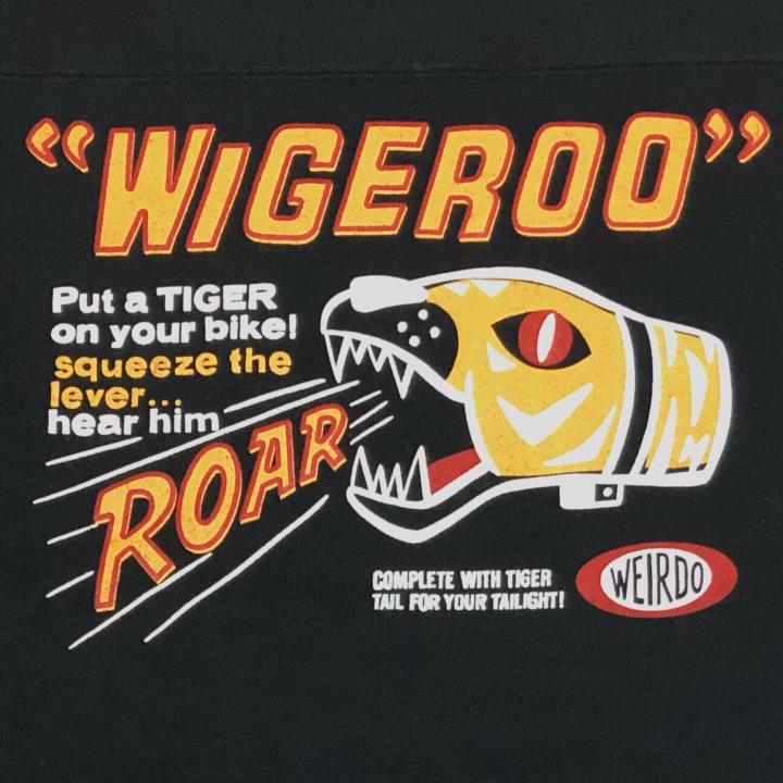 WIGEROO – CREW NECK SWEAT / BLACKの商品画像5