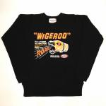 WIGEROO – CREW NECK SWEAT / BLACKの商品画像