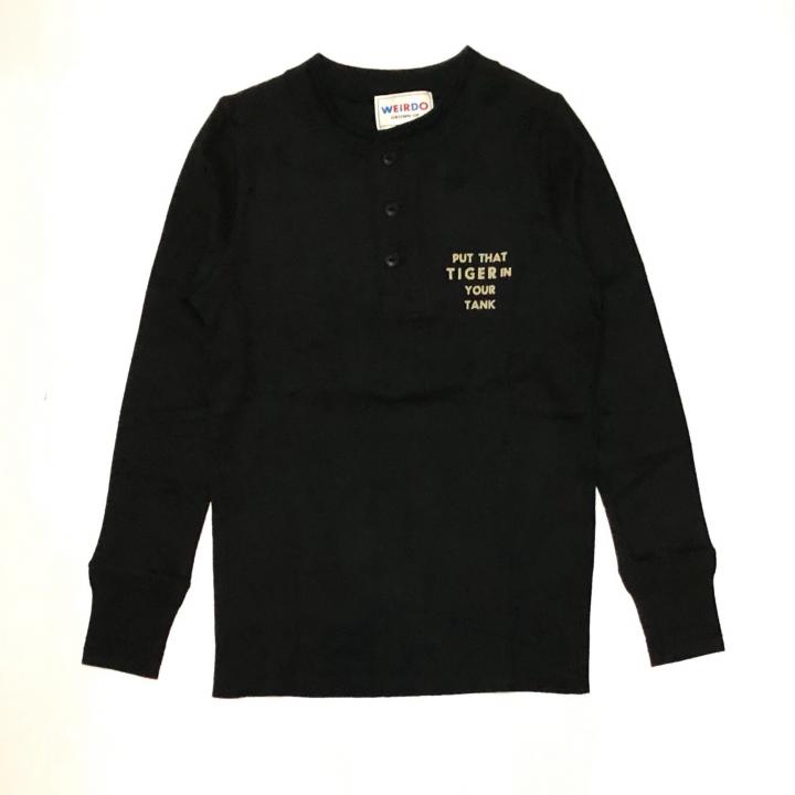 TIGER CROSS – L/S T-SHIRTS / BLACKの商品画像1