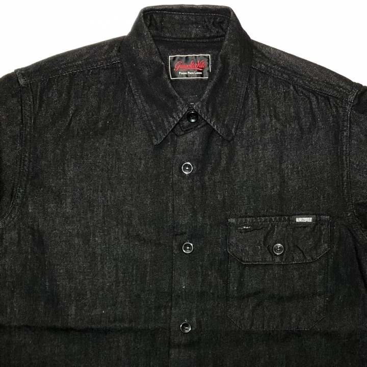 SIG – L/S DENIM SHIRTS / BLACKの商品画像3