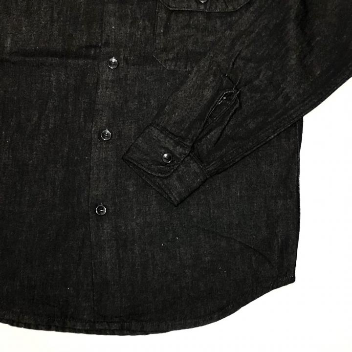 SIG – L/S DENIM SHIRTS / BLACKの商品画像4