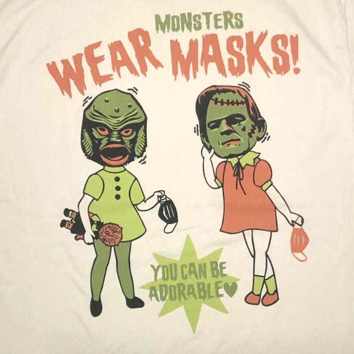 WEAR MONSTERS MASKS – UNISEX T-SHIRTSの商品画像3
