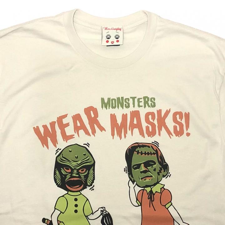 WEAR MONSTERS MASKS – UNISEX T-SHIRTSの商品画像2